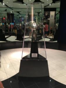 The Lombardi Trophy in the Pro Football Hall of Fame