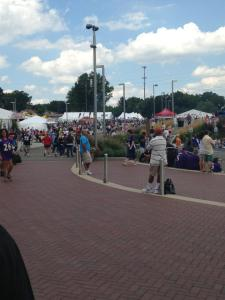 Street view of festivities at the Pro Football Hall of Fame 2013 Induction